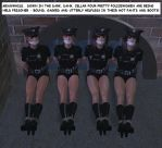 The Case of the Four Captured Lady Cops by ih31uk
