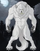 White Werewolf by ravenshadows08