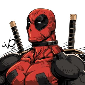 Digital Sketch Warm up - 24 Deadpool by Vostalgic
