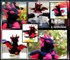 Meet Devil plush by AzureHowlShilach