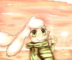 Asriel and the flower gold. by Ethtarra