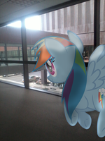 Rainbow Dash Visits the Skywalks by BCMmultimedia