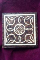 Air Knotwork Pine Tile by ladyfireoak