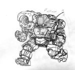 mini Hunchback HBK-4G sketch by Mintyrobo