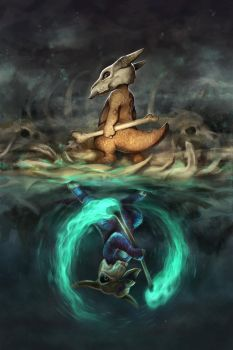Marowak Mirrored by TamberElla