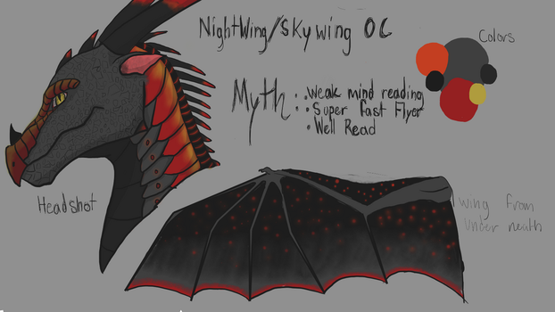 Nightwing/Skywing Myth OC by DragonOfYore