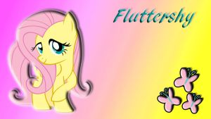 Fluttershy Wallpaper by schocky