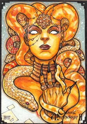 MEDUSA  Classic mythology2  sketch art card