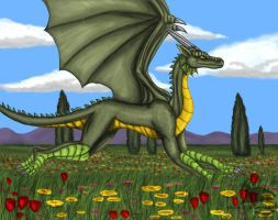 Dragon of spring by Ravenfire5