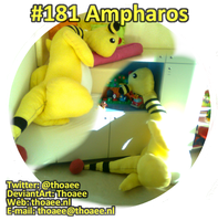 Ampharos Plushie at the Hospital by Thoaee
