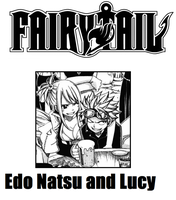 Fairy Tail - Edo Natsu and Lucy by Piratenking
