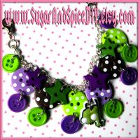 Double Button Gir Bracelet by SugarAndSpiceDIY