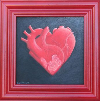 The Heart Shaped Heart -original- by tursiart
