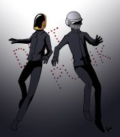 DAFT PUNK by fireproofmarshmallow