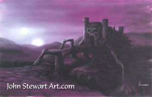 He-Man castle Greyskull Painting by johnstewartart