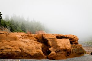 Red Rocks and Misty Shores by matthewfoxxphotos