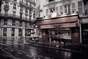 rain in Paris by Lucem
