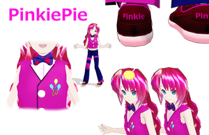 MLP Pinkiepie MMD by MoonTheBlueNeko