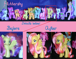 My Little Pony Restyling: Fluttershy by ShyraWolf