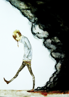 The walk of anxiety by Awashii