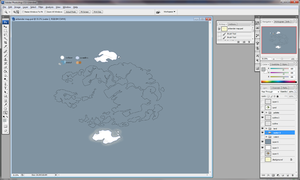 The Last Airbender Map - WIP by duniyadnd