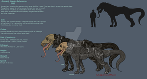 Romanji Species Reference Sheet by Caneage