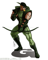 Green Arrow / Oliver Queen by PaintedKing