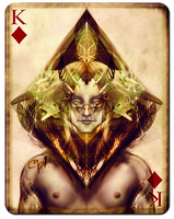 Playing Cards - King of Diamonds by cynthiafranca