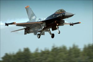 F 16 Fighter by JHILLS
