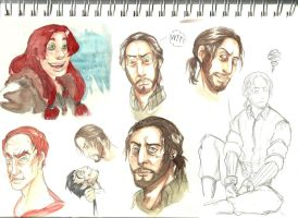 Sketch page ~ Watercolor by M-I-D-S