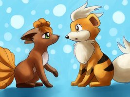 Vulpix+Growlithe by Togechu