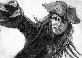 Captain Jack Sparrow by Csillipepper