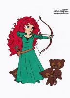 Merida from Brave Colored by Maiko-Girl