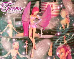 Winx Club Tecna Enchantix 3D Blend! by AlexaSpears1333
