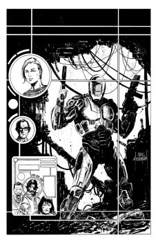 RoboCop Cover inks by Mooneyham