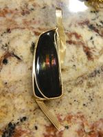 Fire obsidian in gold by DPBJewelry