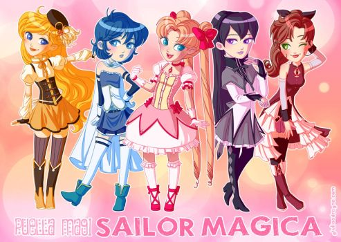 Puella Magi Sailor Magica by Khiliel