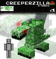 JurassiCraft: Creeperzilla by Dragonith