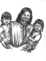 Aragorn and Twins by rstrider9