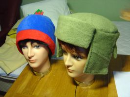 Stan and Kyle's hats by Lusikka