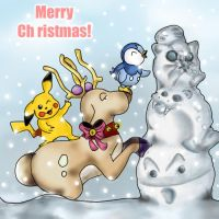christmas with  pokemon by gaara-lover-9