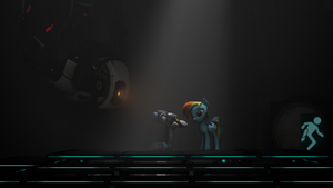 When Portal and Ponys... by RedxanNL