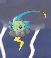 Lightning Castform by Silvercalf