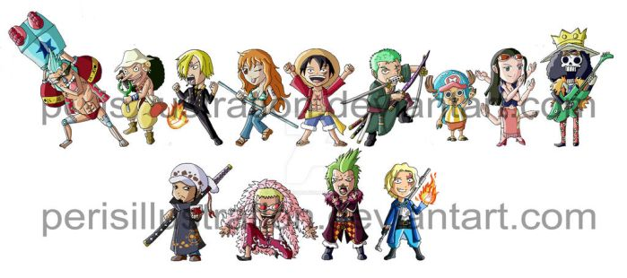 One Piece Chibis by PerisIllustration