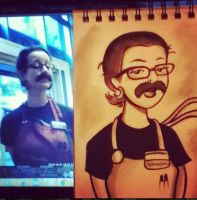 Mustache Barista by ChibiCelina