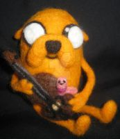 Needle Felted Jake, Viola and Shelby by Cat by CatsFeltLings