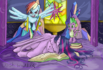 Rainbow's Special Wake-up Call by JackCaptions2015