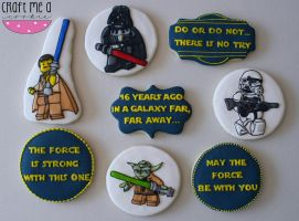 Lego Star Wars Cookies by brynnwoods