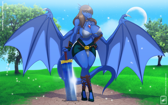 leon1999 OC Cate Dragoness gift ar_Complete by wsache007