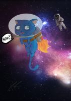 Cat on Space by DRPauloR